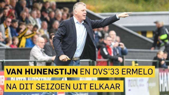 Bert van Hunenstijn en DVS'33 Ermelo na dit seizoen uit elkaar