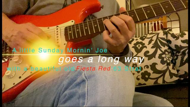 Sunday Jam with a '63 Fiesta Red Strat