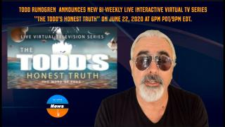 "AGN News: Todd Rundgren unveils  plans for bi-weekly live interactive virtual TV series ""The Todd's Honest Truth"""